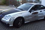Mercedes Benz CLK 63 AMG chrom-carbon black folierung, car wrapping