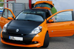 Renault Clio RS orange-schwarz-matt Folierung Car wrapping